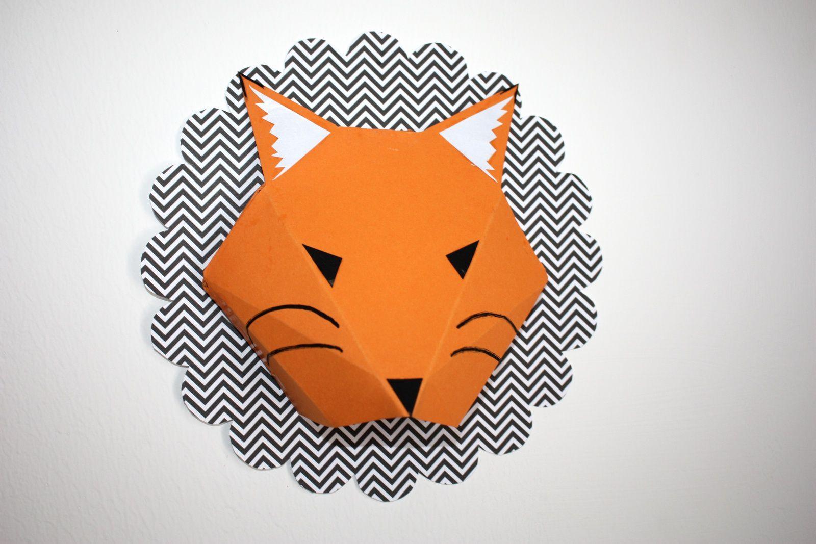Un renard en papier en trophée !!