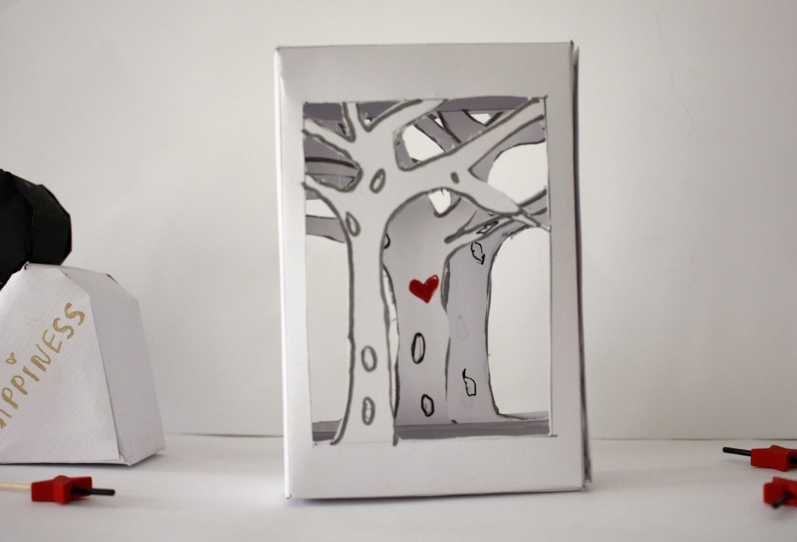 "Faire un cadre en papier  en 3 D ""so romantic "":"