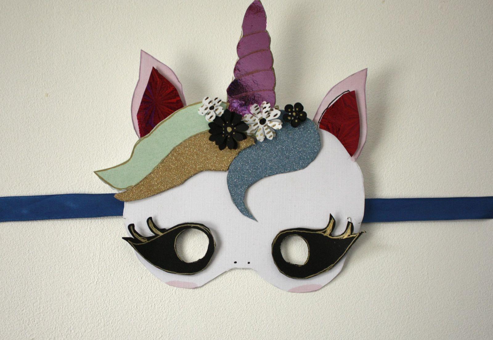 Diy :un masque licorne pour Mardi gras