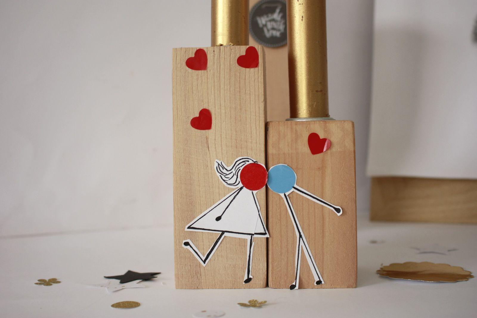 Customiser des bougeoirs pour la St valentin !