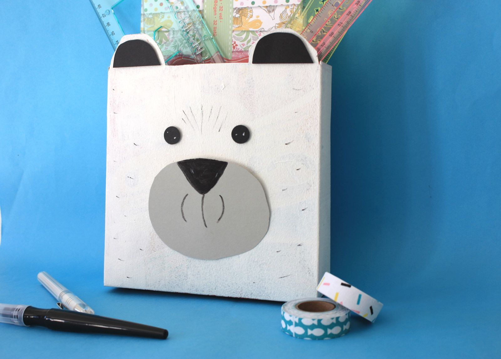 Recycler en s'amusant :DIY la boîte ours