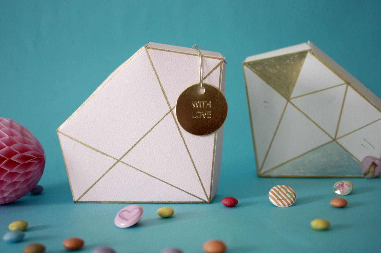 DIY: la boîte diamant en papier  pour la St valentin !!