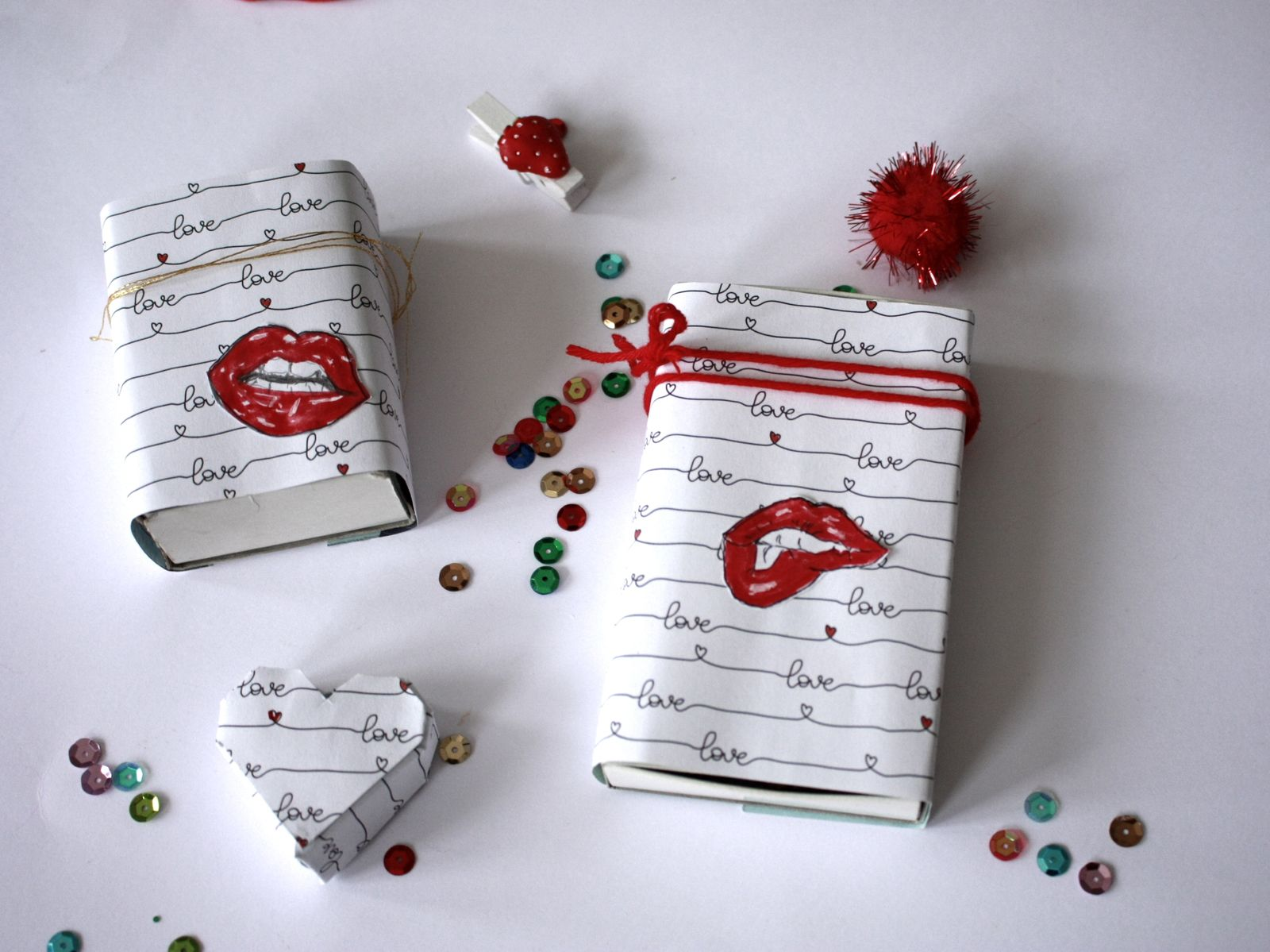 DIY facile et récup pour la St valentin ...ou pas !!!