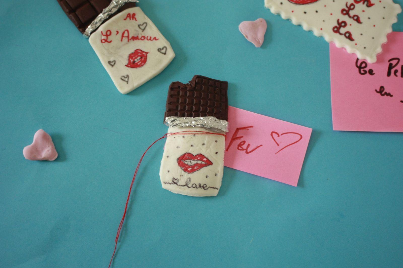 Faire des magnets pour la St valentin !!
