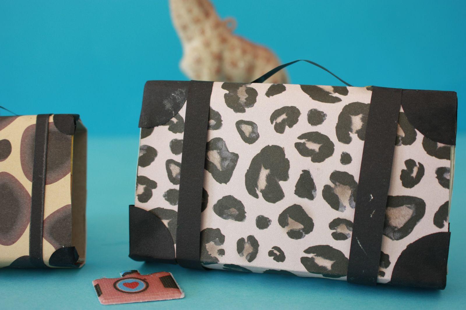 Transformer les boîtes d'allumettes en valises inspiration savane !!