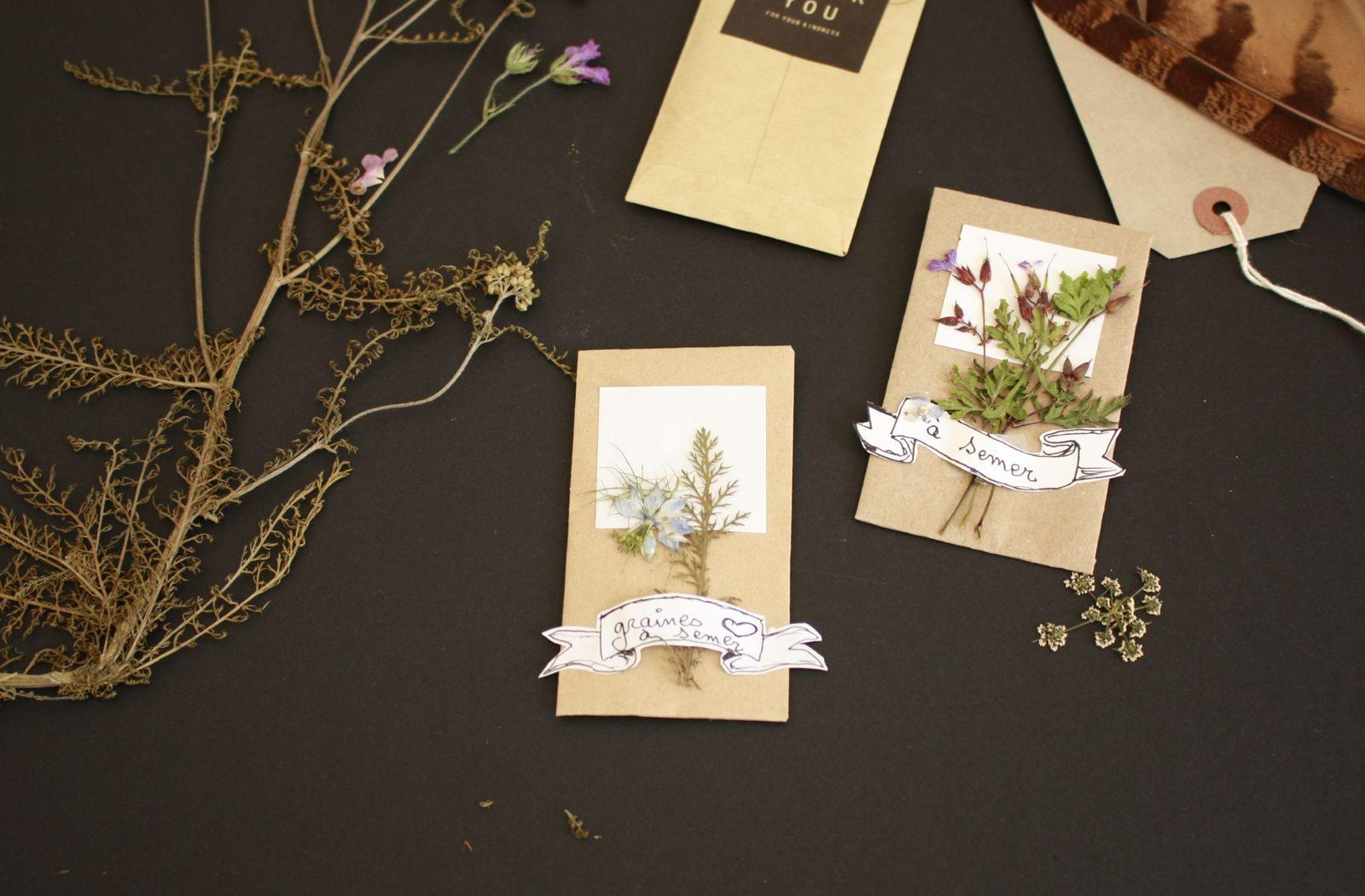 L'autre façon d'offrir des fleurs :DIY  faire des sachets de graines avec du papier récup!! !!