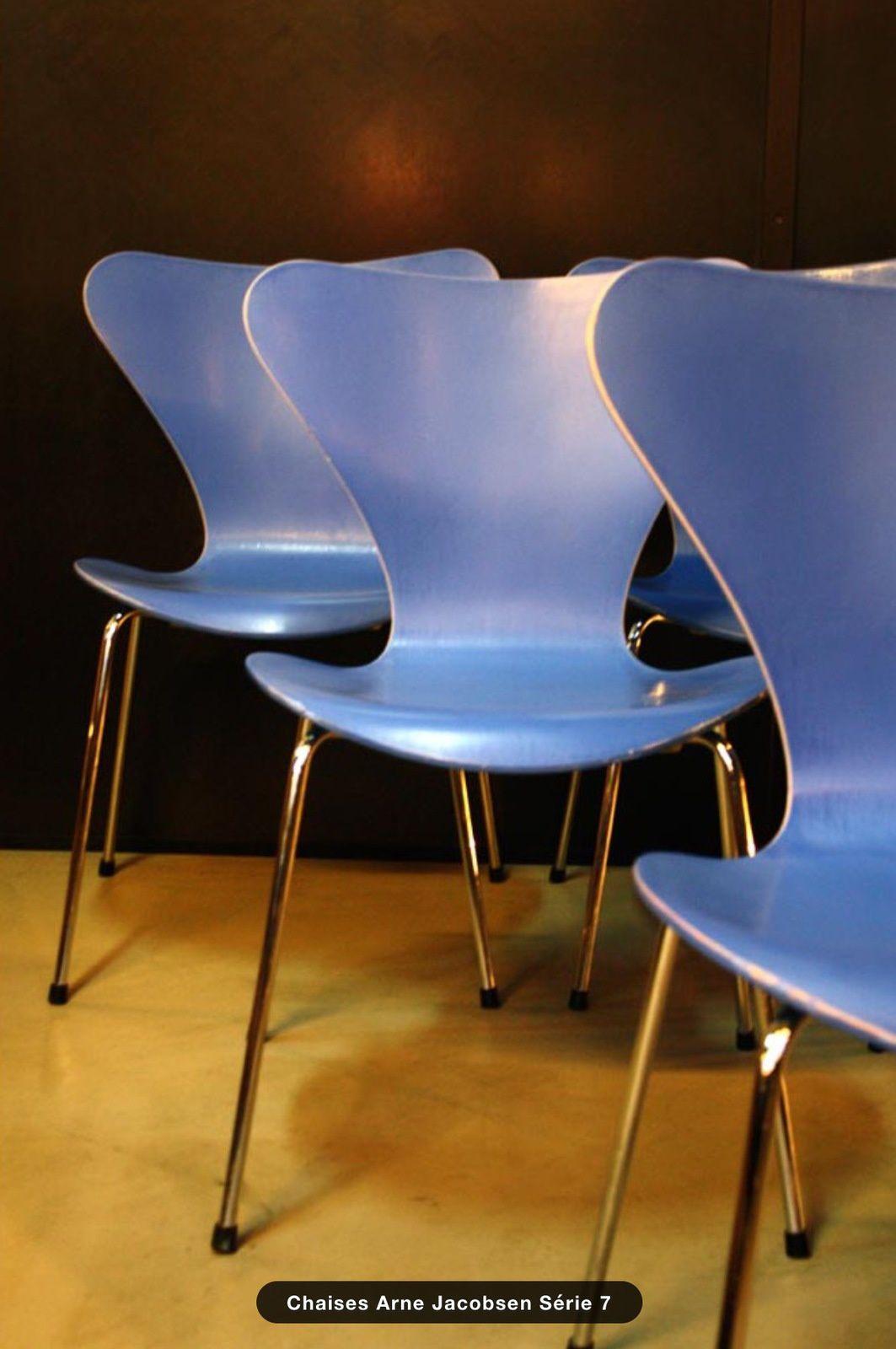 Chaises Jacobsen série 7 (vendu)