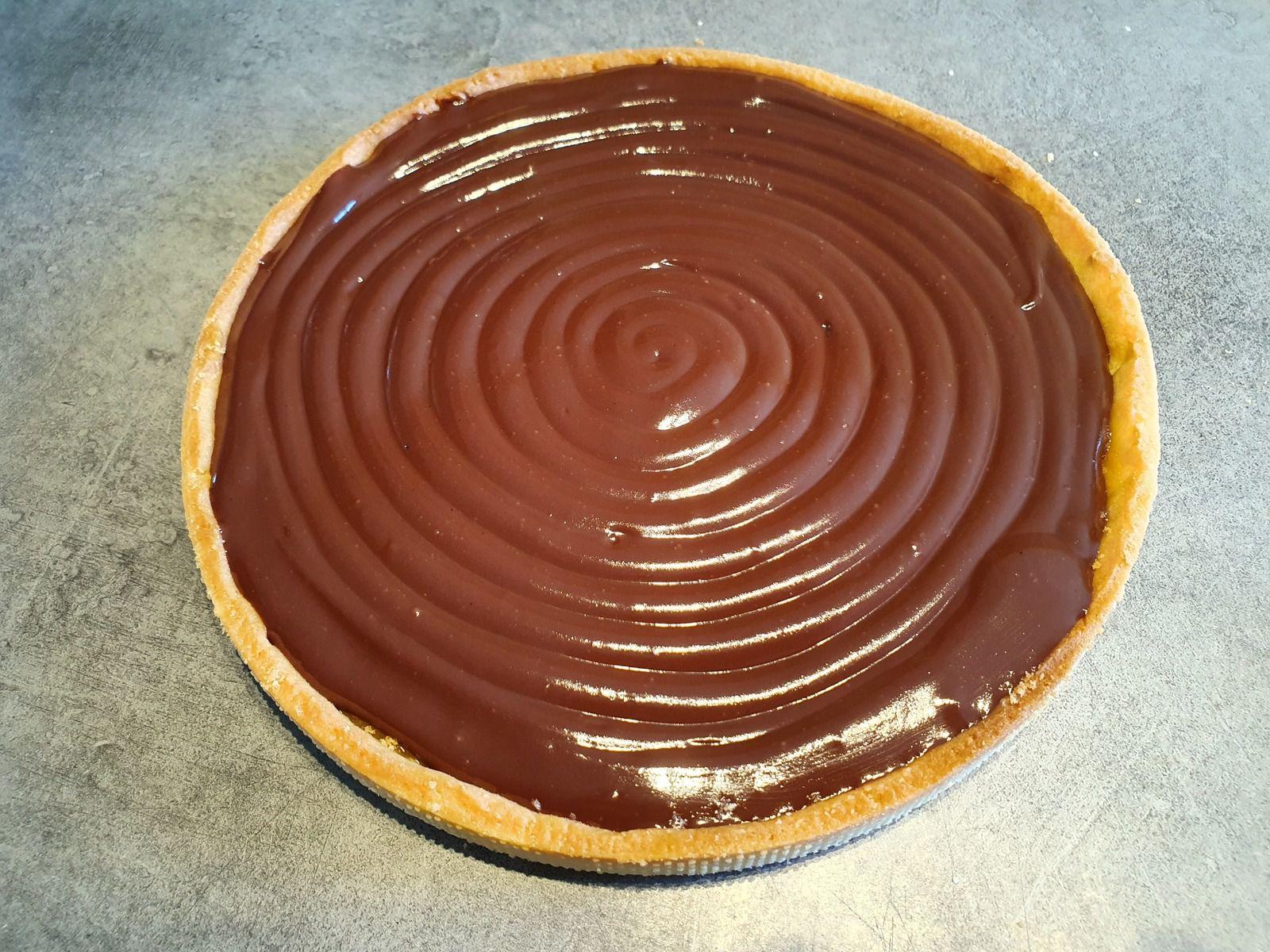 Tarte chocolat cacahuète