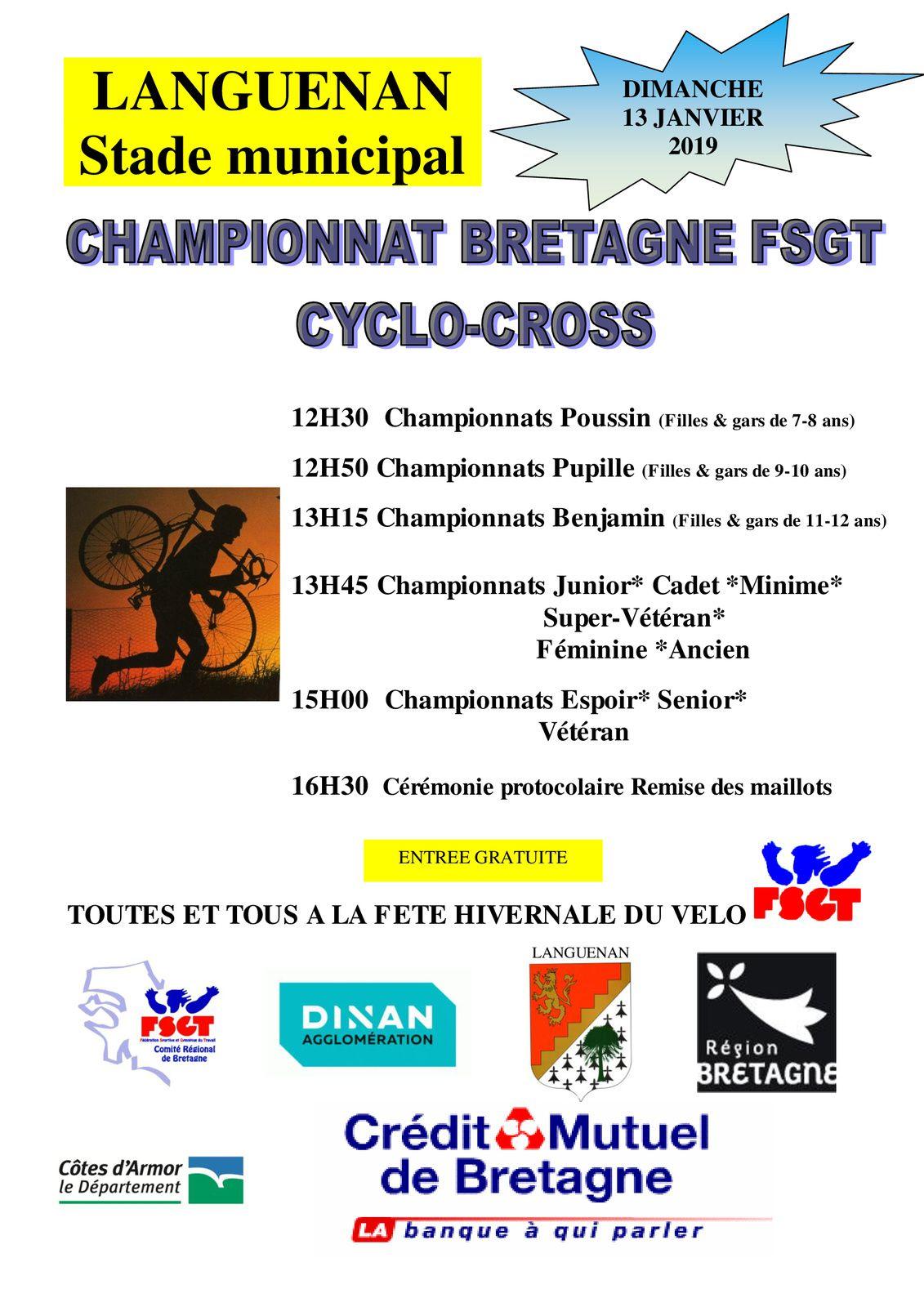 championnat Bretagne Cyclo-cross LANGUENAN