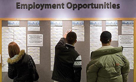 New jobs but slow decreasing unemployment in the US