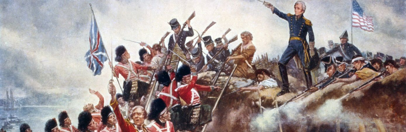 The battle of New Orleans, end of Anglo-American war