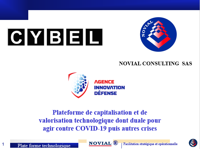 NOVIAL CONSULTING DEPOSE UN PROJET COVID A L'AGENCE d'INNOVATION DE DEFENSE