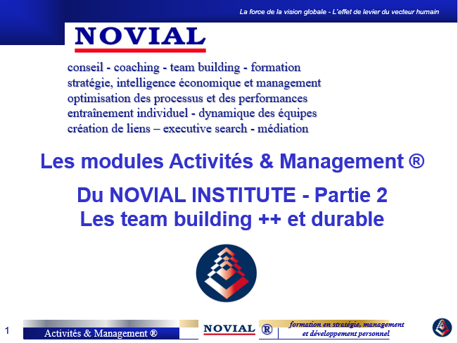 LES TEAM BUILDING ACTIVITE & MANAGEMENT - PARTIE 2
