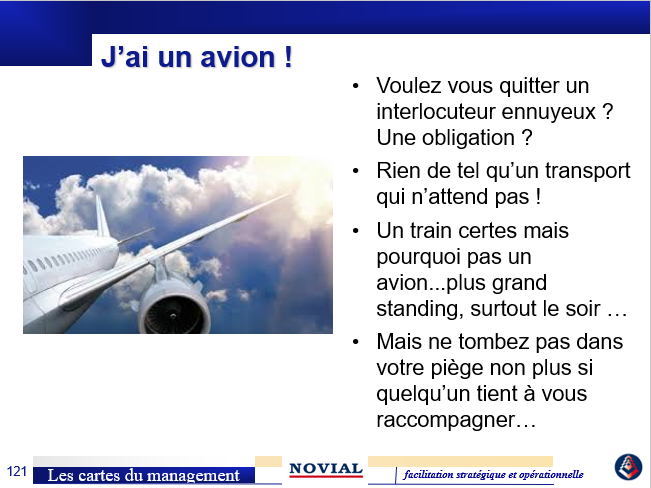LES CARTES DU MANAGEMENT : J'AI UN AVION !