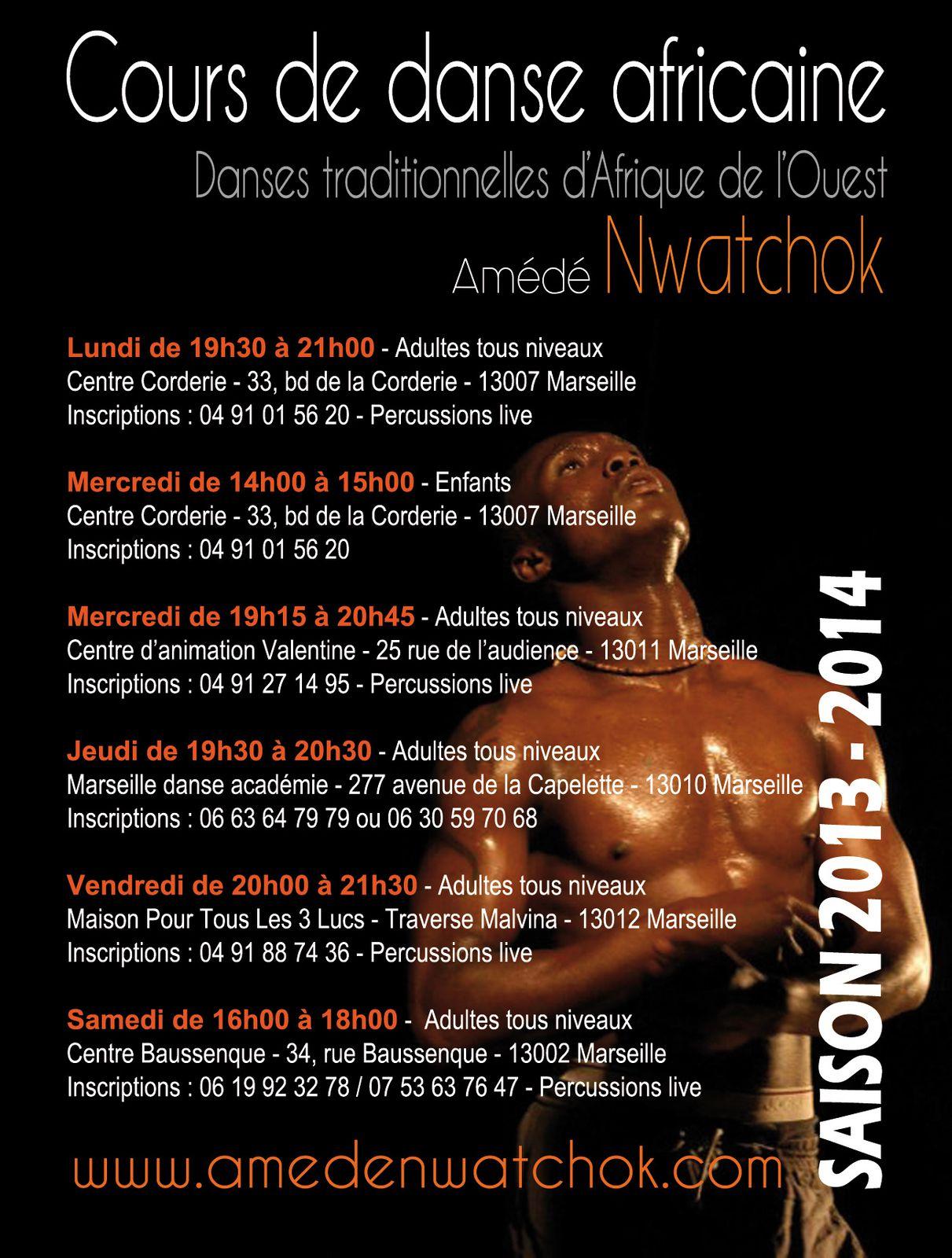 Cours de danse africaine avec Amédé Nwatchok - Saison 2013 / 2014