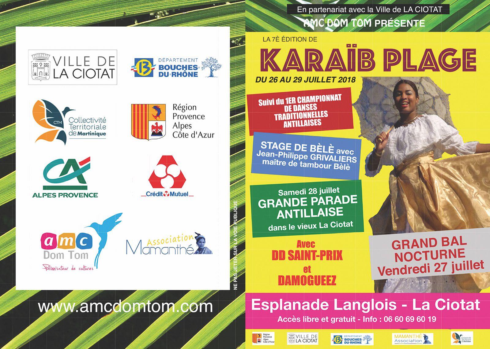 Du 26 au 29/07/18 - Karaïb Plage