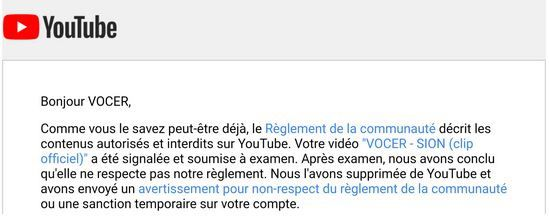 YOUTUBE : CENSURE POLITIQUE