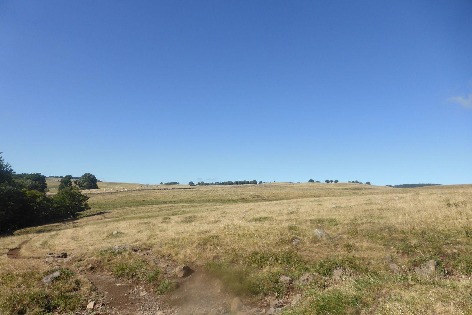 Nous quittons ce magnifique lieu pour nous engager sur le sentier et ceci avec une météo parfaite, soleil et ciel bleu.