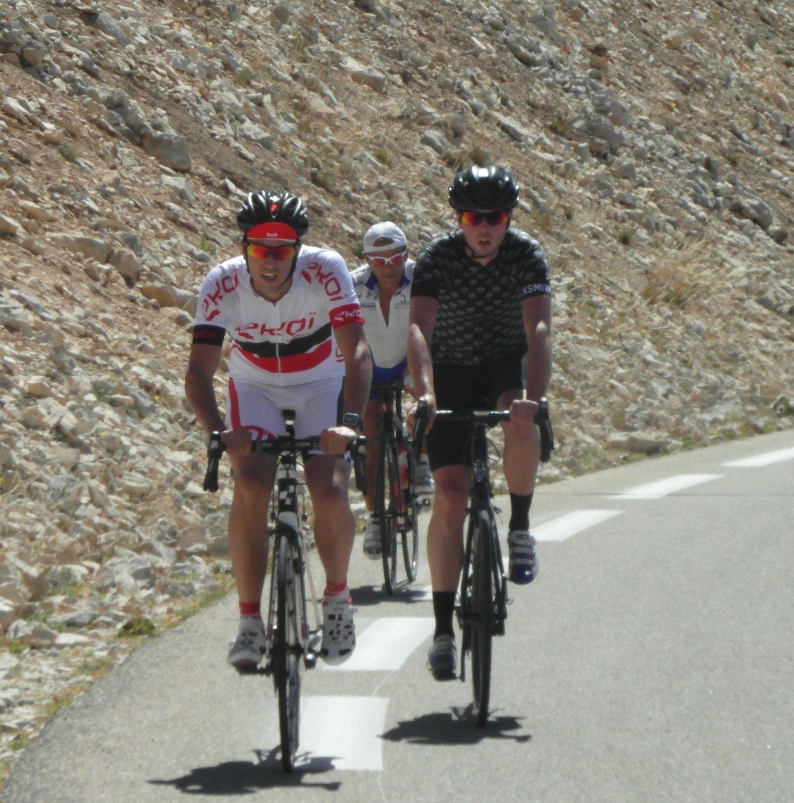 Sébastien Bluteau au Mont Ventoux.