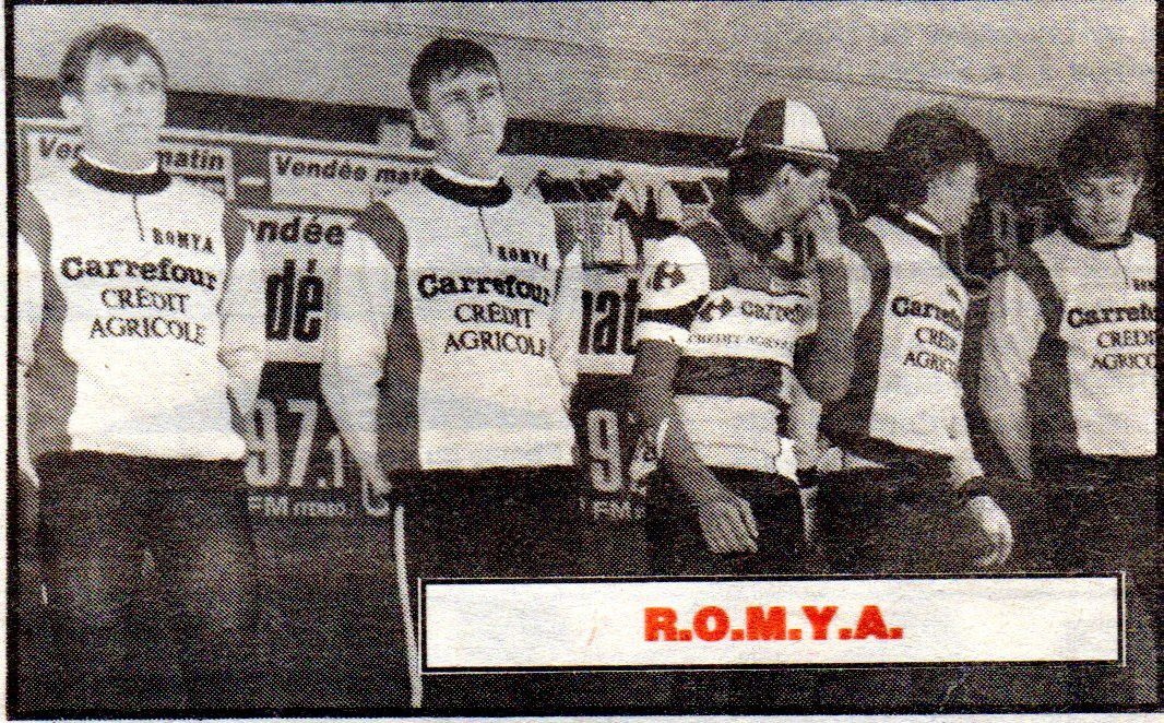 ROMYA 1987 : Jean Chassang, Jean-Michel Bourgeot, Jean-Philippe Duracka, Jean-Pierre Duracka, Dominique Therier.