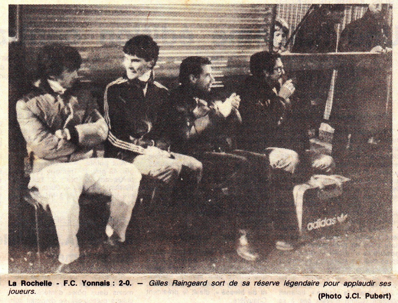 FC Yonnais, 3ème division 1982.