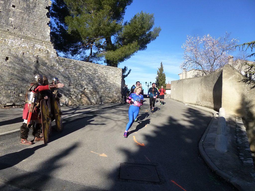 Josselin Aberlenc, 2ème sur le 16km, passage à la Tour Magne.