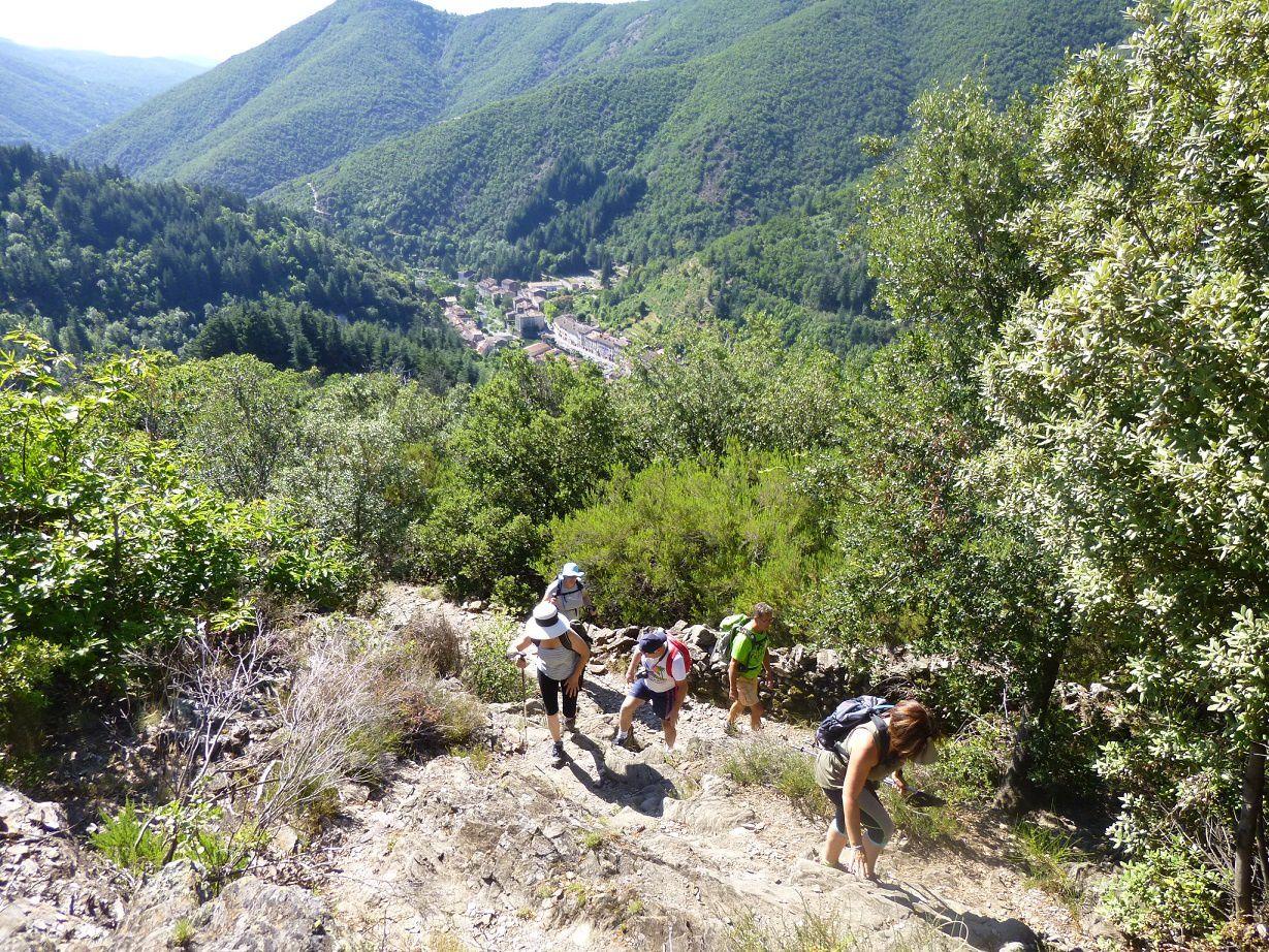 Arrivée au Mont-Aigoual.