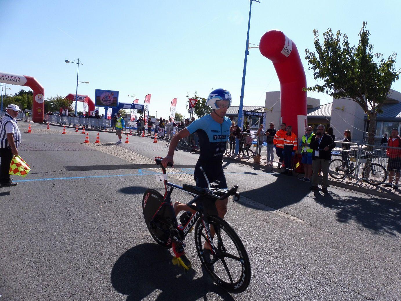 Nicolas Onillon, 2ème avant la course à pieds.