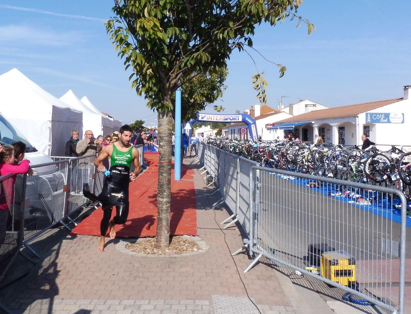 Julien Ricci avant de prendre le vélo.