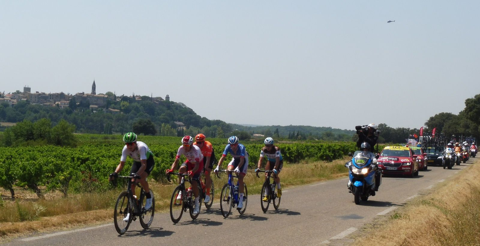 Le Tour de France 2019 à Castillon du Gard.