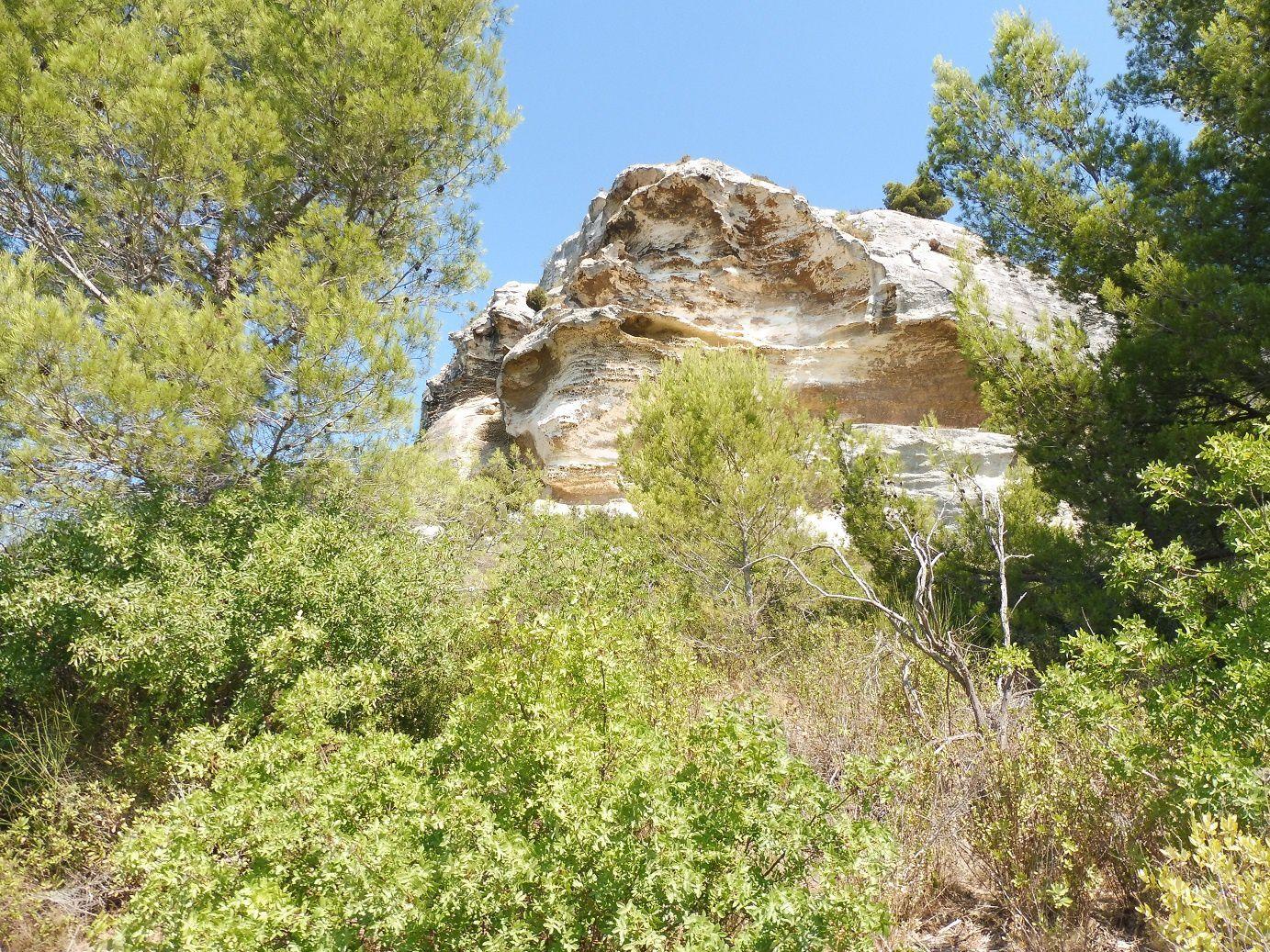 Etrange forme de ce rocher.