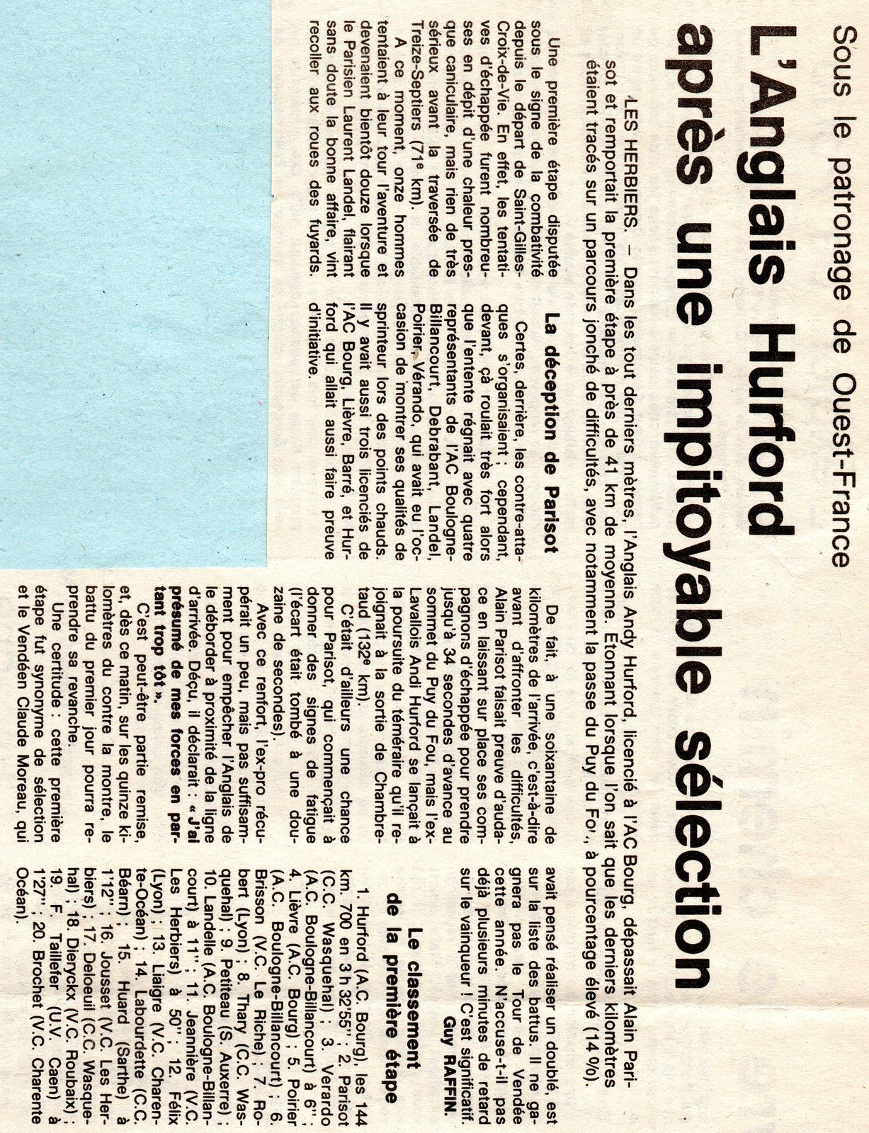 Tour de Vendée 1987.