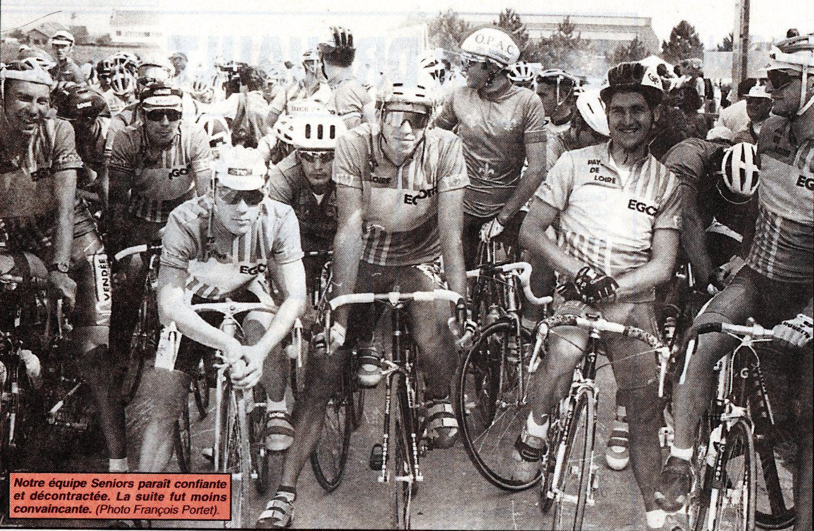 Championnat de France 1992, sélection Pays de Loire : Blaise Chauvière (VRC), Thierry Bricaud (VRC), Pascal Déramé (VRC), Christian Guiberteau (VRC), Jean-Christophe Drouet (ECF Changé), Marc Savary (US St Herblain), Fabrice Rouinsard (UC Nantes) et Philippe Jamin (Cholet Cyclisme).