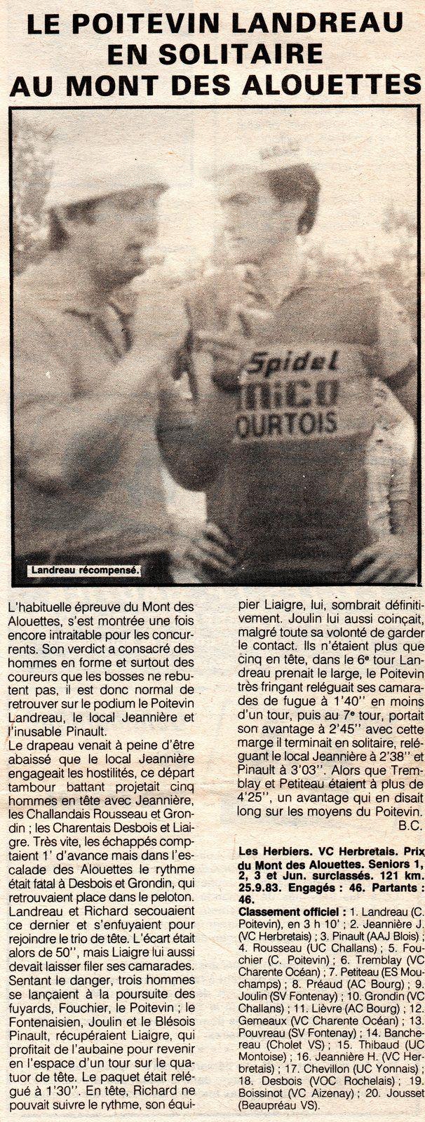 Le Mont des Alouettes (Les Herbiers) 1983.
