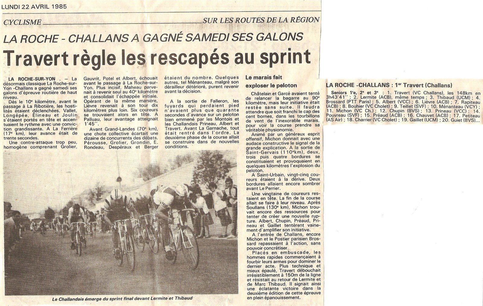La Roche - Challans en 1985.