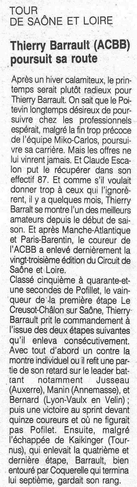 Les 3 Jours de Vendée 1988.