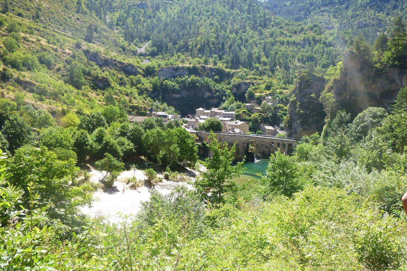 Sortie à vélo entre le Gévaudan et les Gorges du Tarn.