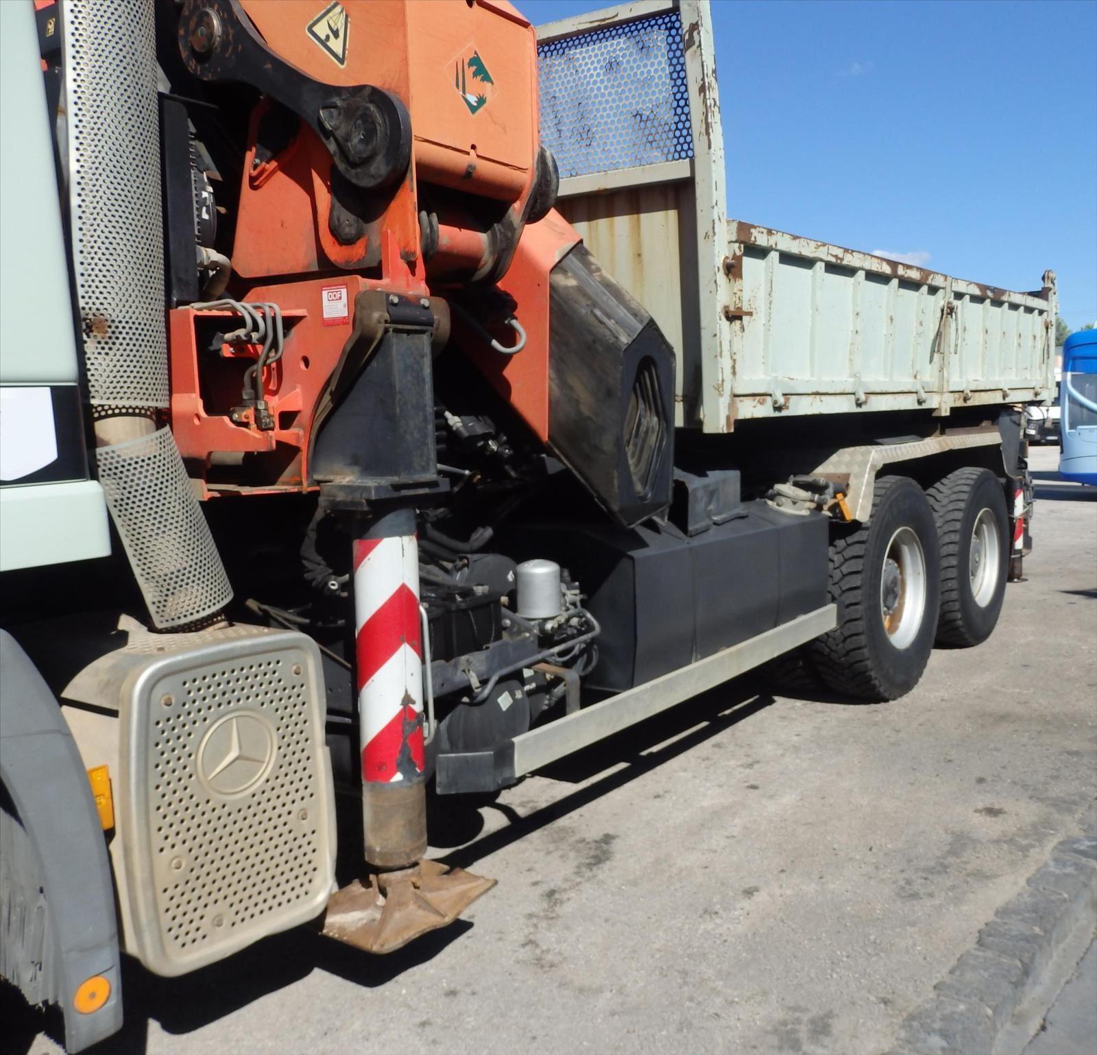 Camion MERCEDES 2640 6x4 Benne Grue Tel: 0608066192 Pierre BASSAT TRANSCOMM13