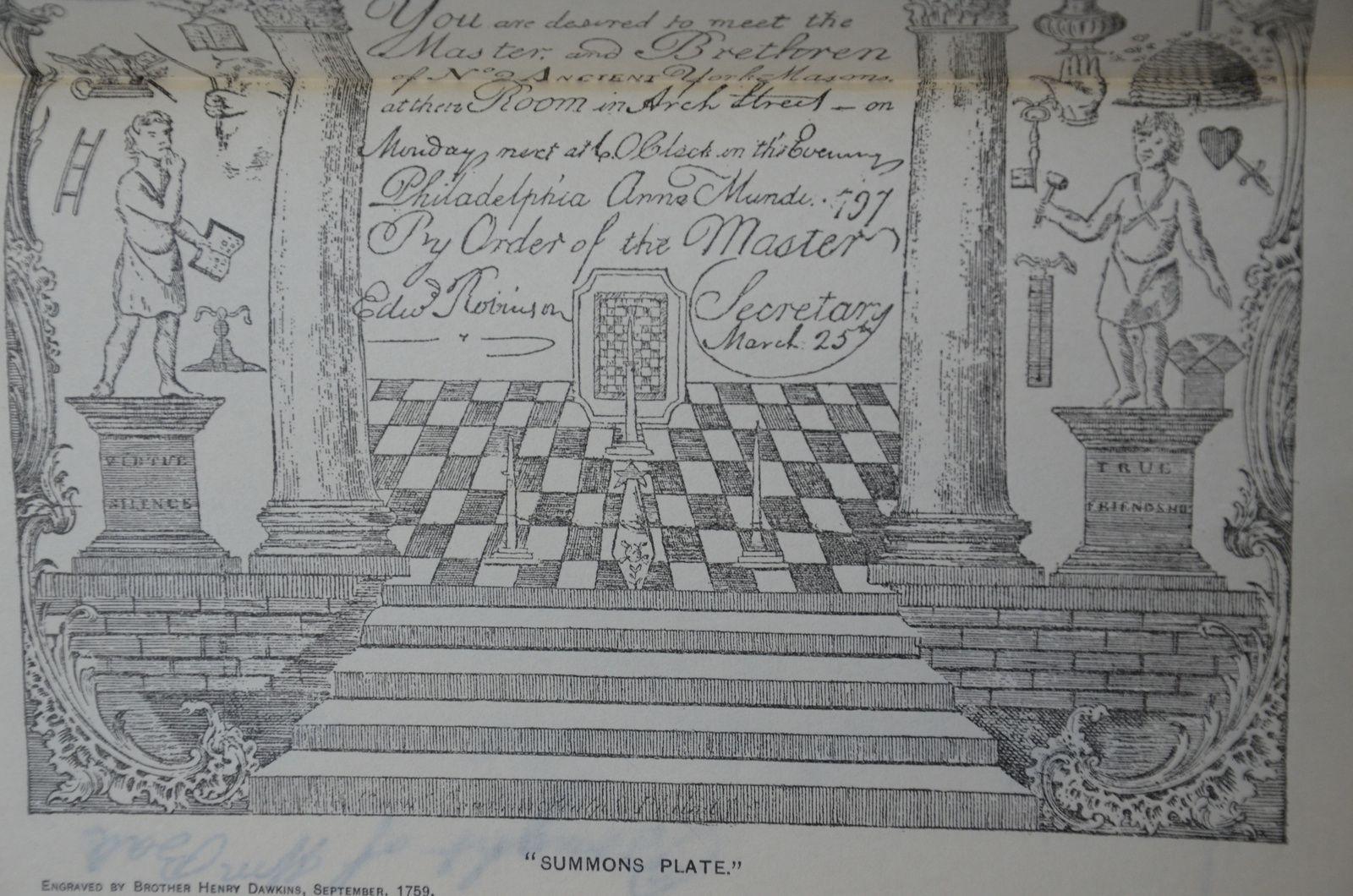 La planche gravée de Henry Dawkins