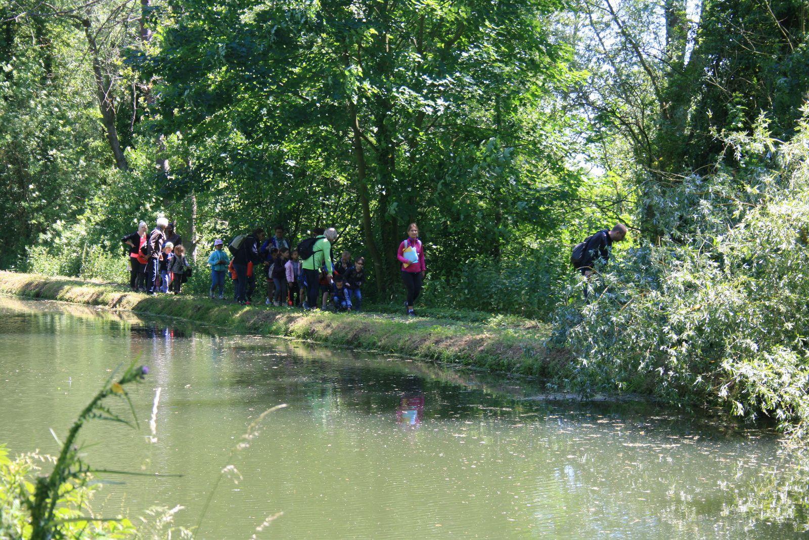 De très jeunes randonneurs de passage à Remaucourt.