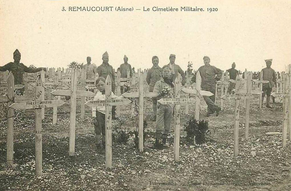 Le cimetière militaire de la grande Guerre, chemin de Bellecour.