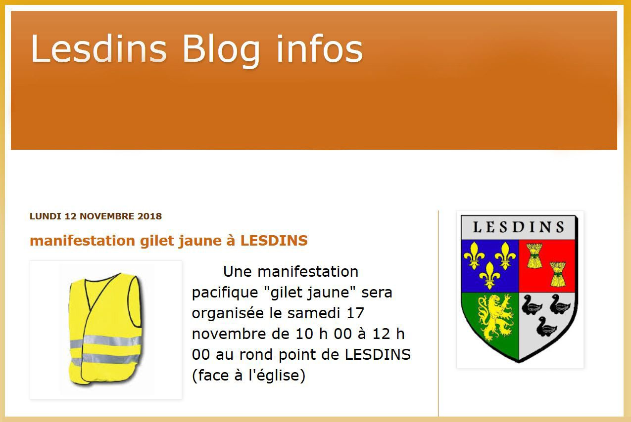 Info blog de Lesdins.