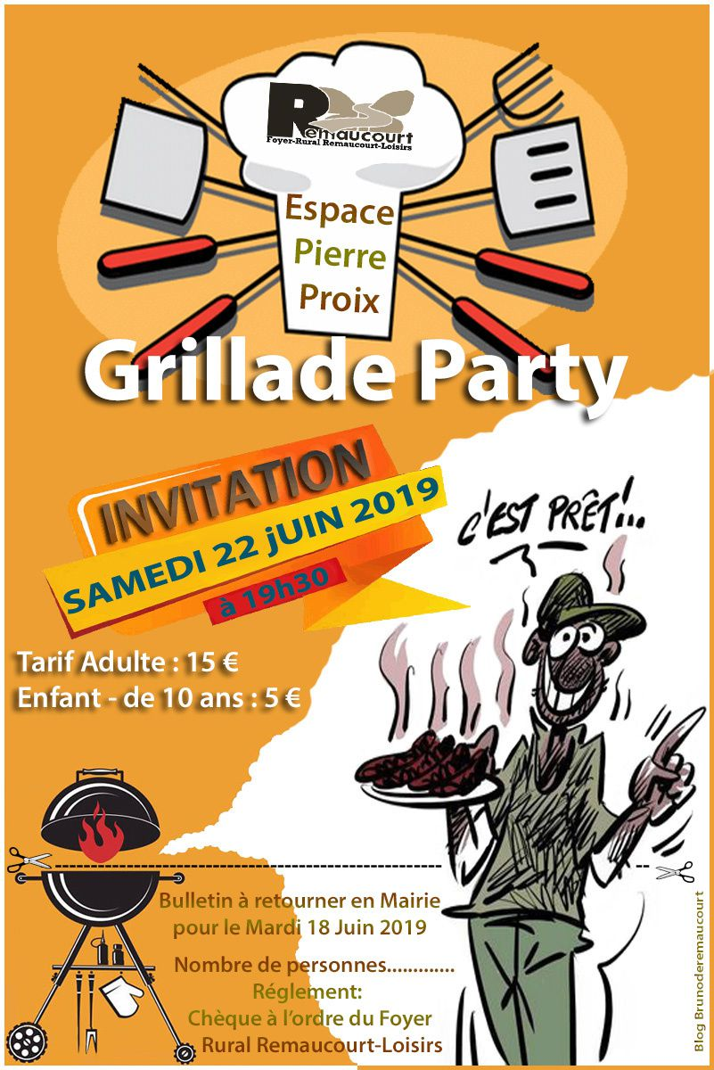 Grillade Party au Foyer Rural Remaucourt-Loisirs.
