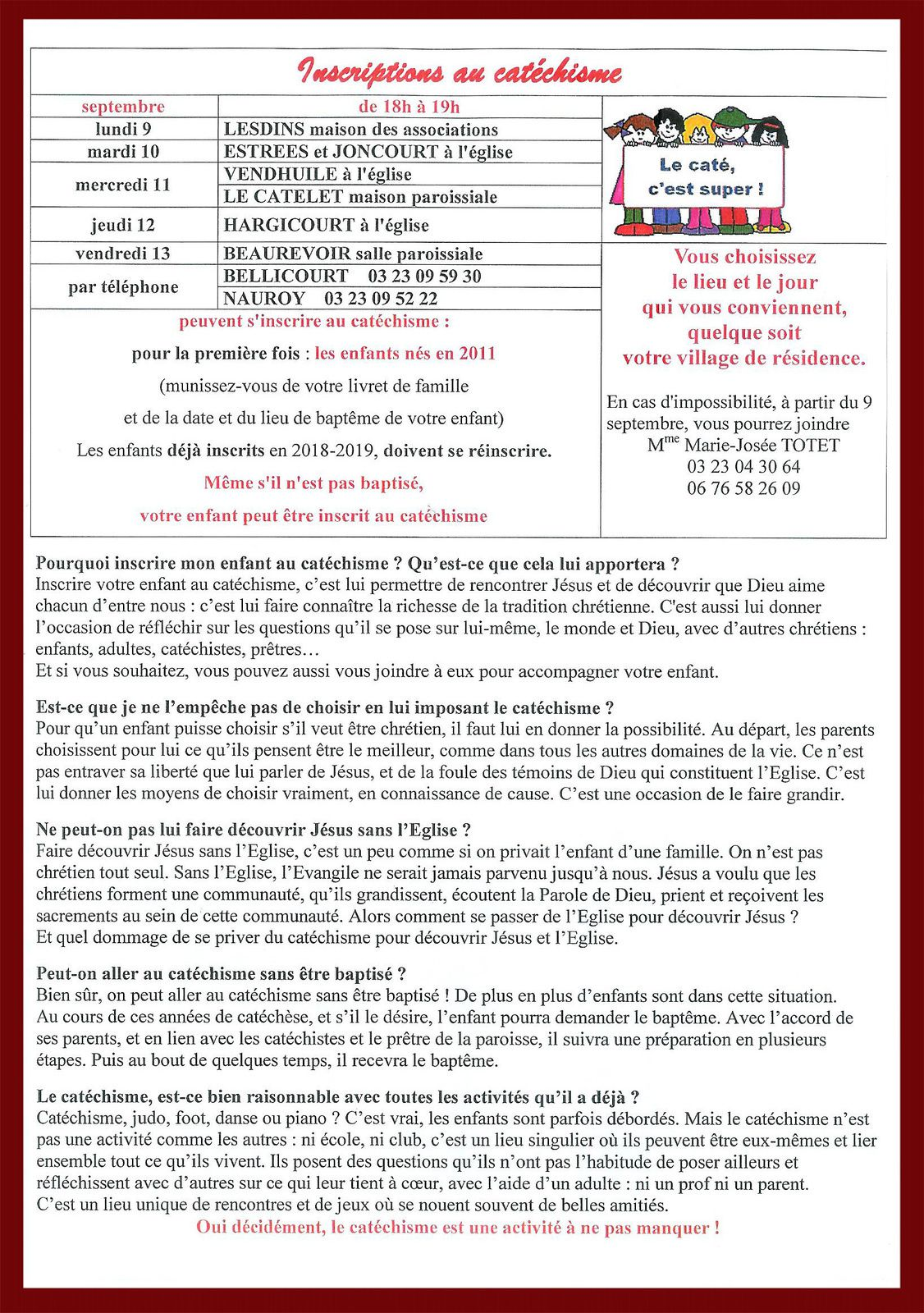 Bulletin paroissial n° 95