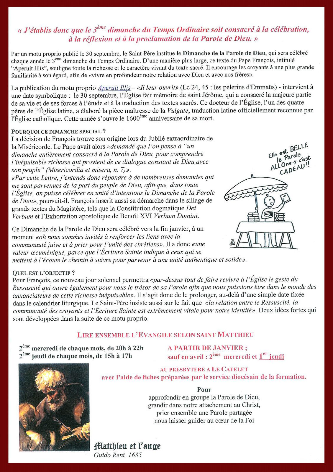Bulletin Paroissial n° 96.
