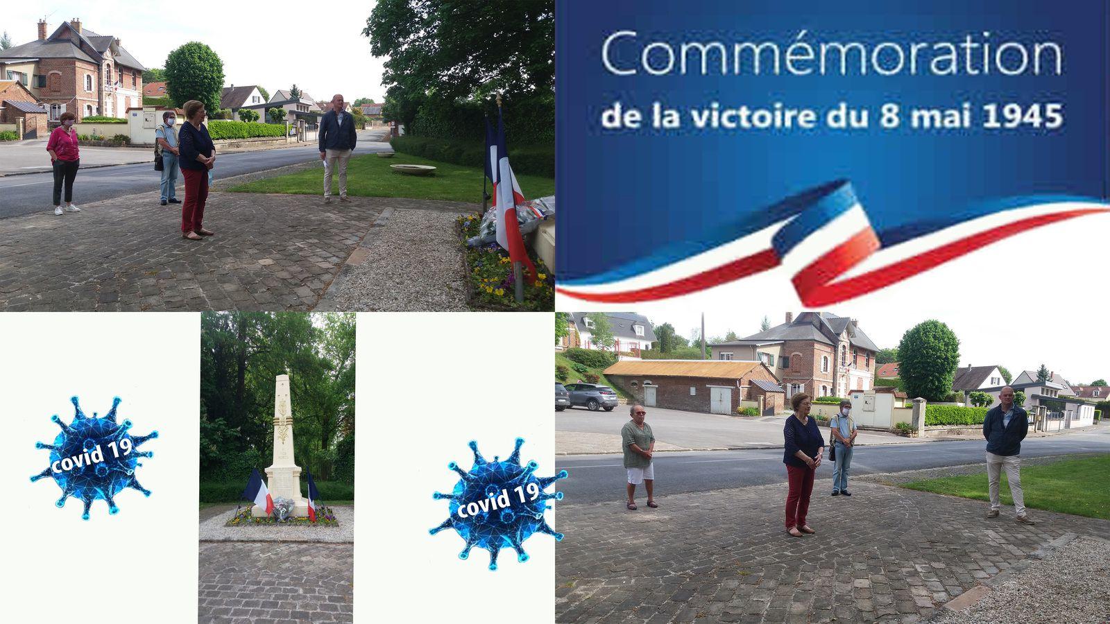 Une commémoration  de la victoire du 8 Mai 45 sous le signe de la pandémie.