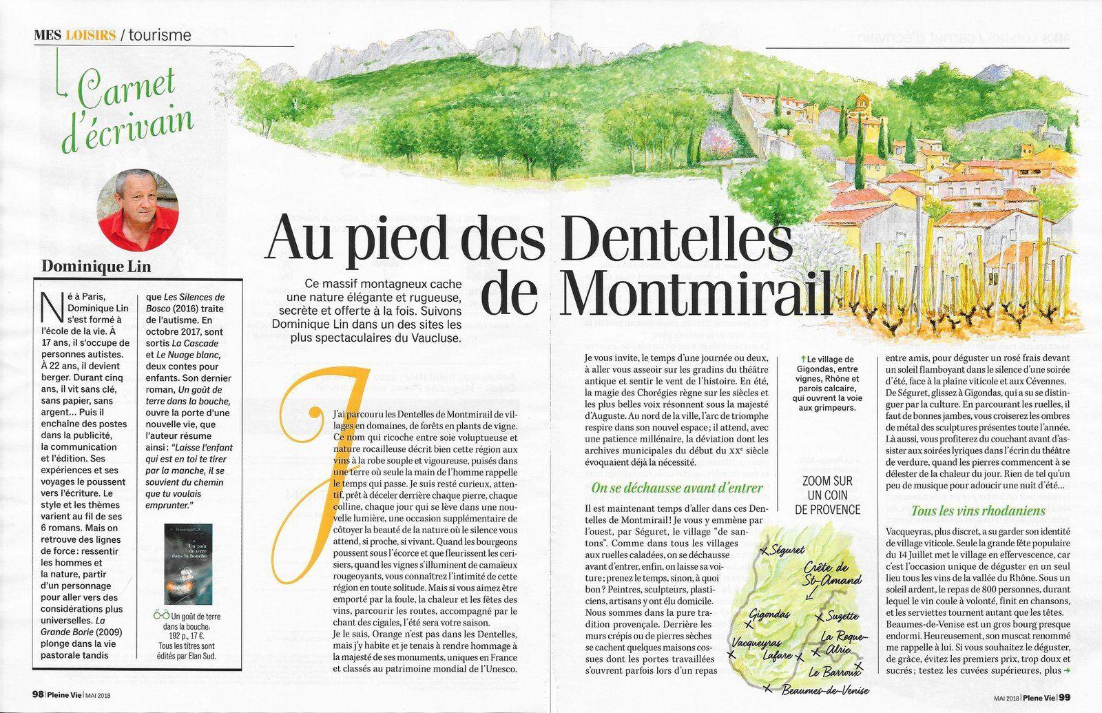 """Un article dans """"Carnets de voyage"""" du magazine Pleine Vie"""