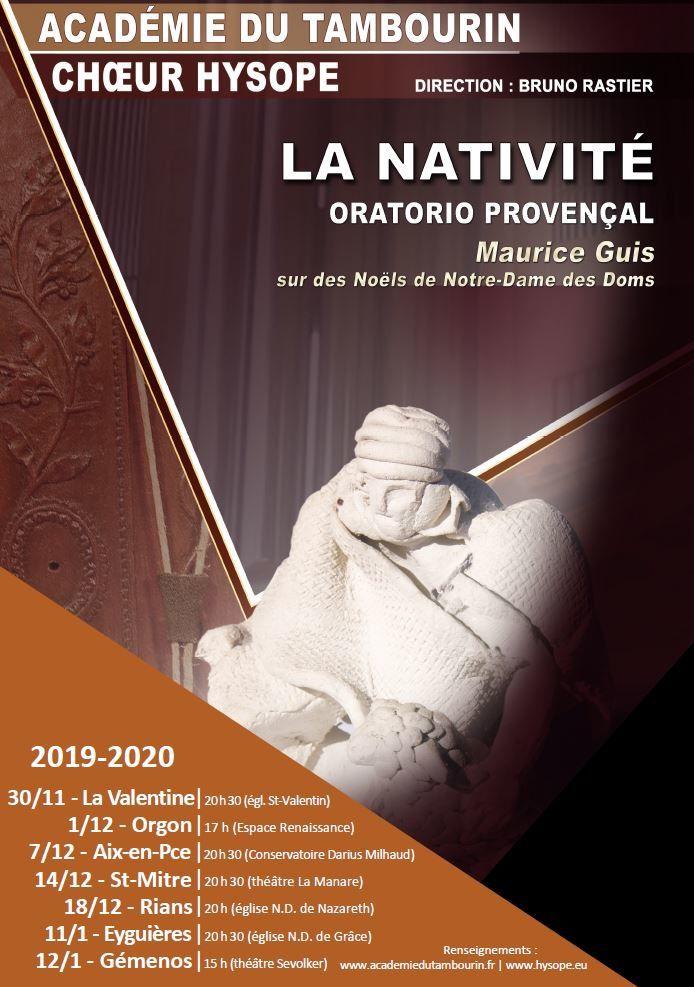 Pour les fêtes, offrez-vous un concert de l'histoire de Noël en provençal avec 60 chanteurs d'Hysope et orchestre de tambourinaires !