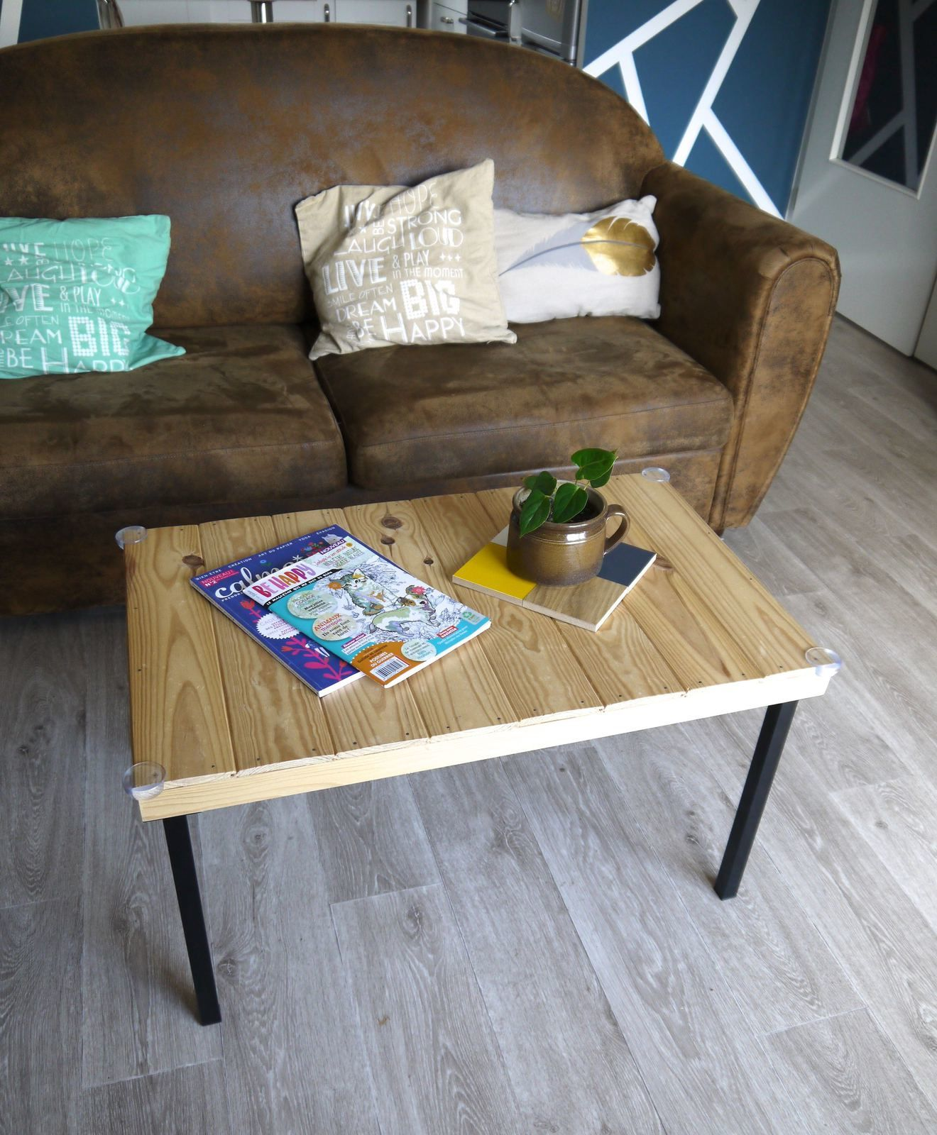 Table Basse A Fabriquer fabriquer une table basse - article diy - adeline alias ada