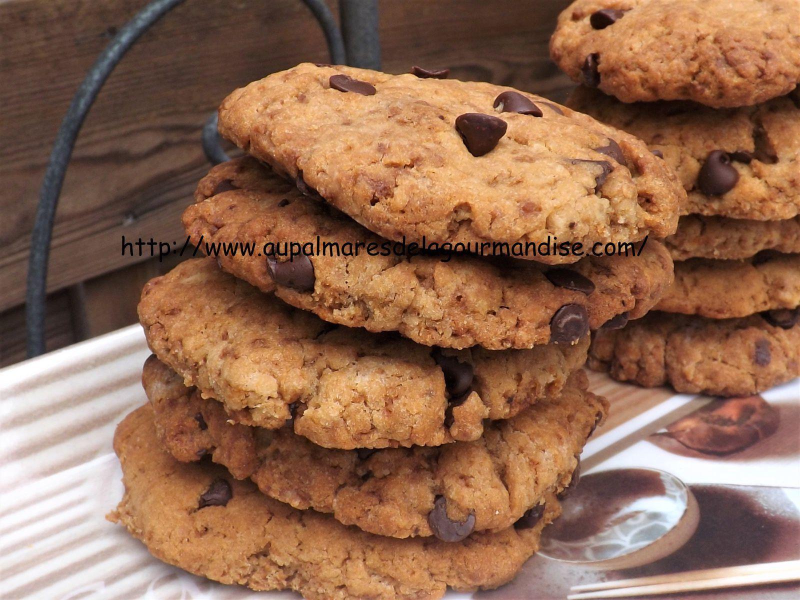 Cookies aux pépites de chocolat  * IG Bas *ou pas* Vegan* Healthy* Hygge*Comfort Food * Farine Fiberpasta*